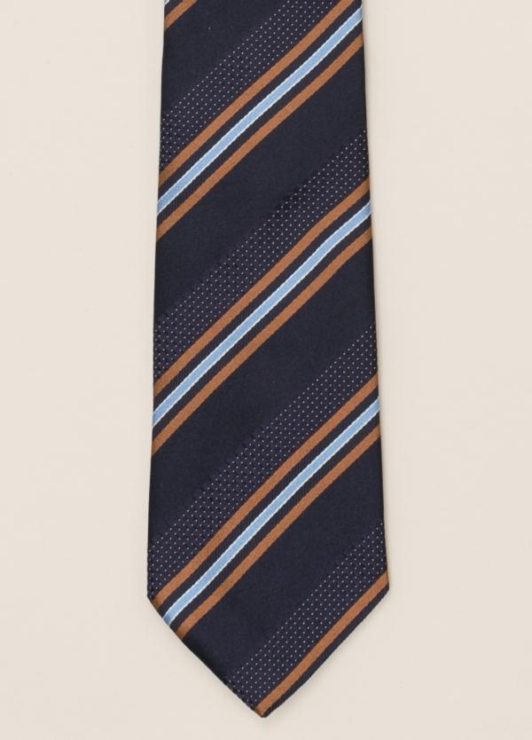 Corbata FUREST COLECCIÓN rayas marino y naranja