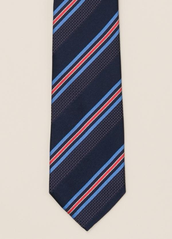 Corbata FUREST COLECCIÓN rayas marino y azul