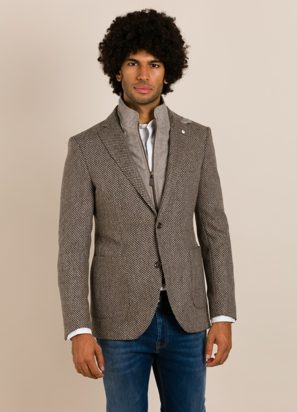 Abrigo corto LUBIAM gris
