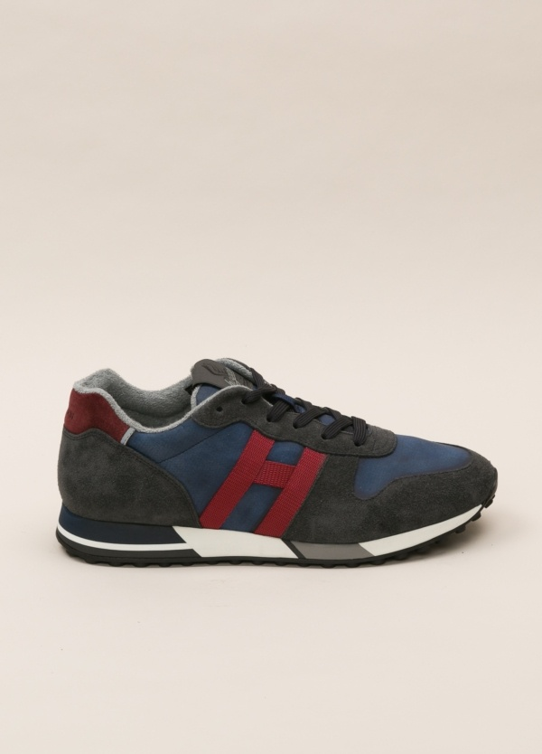 Zapatillas deportivas HOGAN azul y rojo