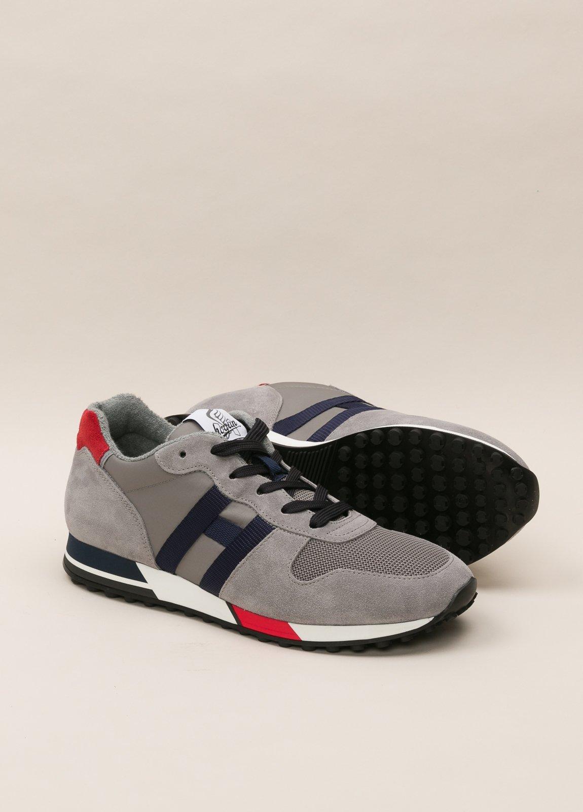 Zapatillas deportivas HOGAN gris y rojo - Ítem4