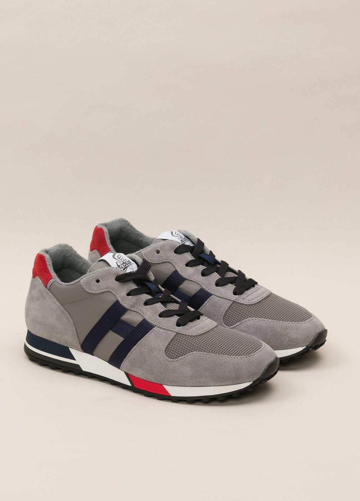 Zapatillas deportivas HOGAN gris y rojo - Ítem3