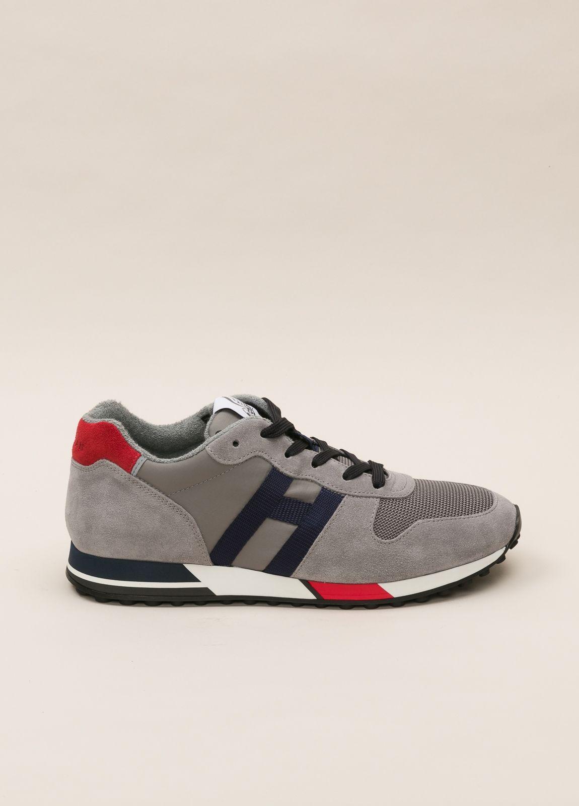 Zapatillas deportivas HOGAN gris y rojo