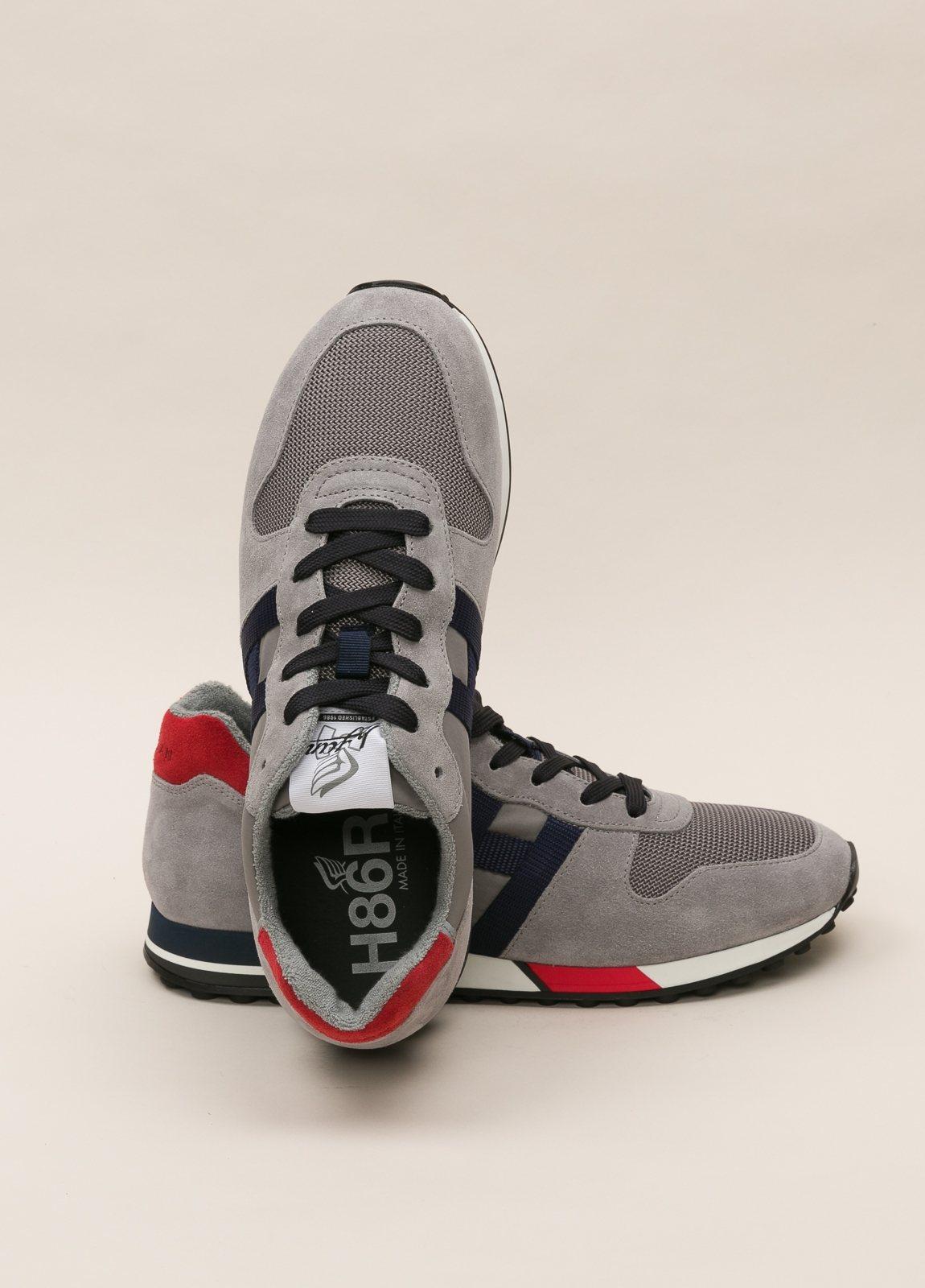 Zapatillas deportivas HOGAN gris y rojo - Ítem1
