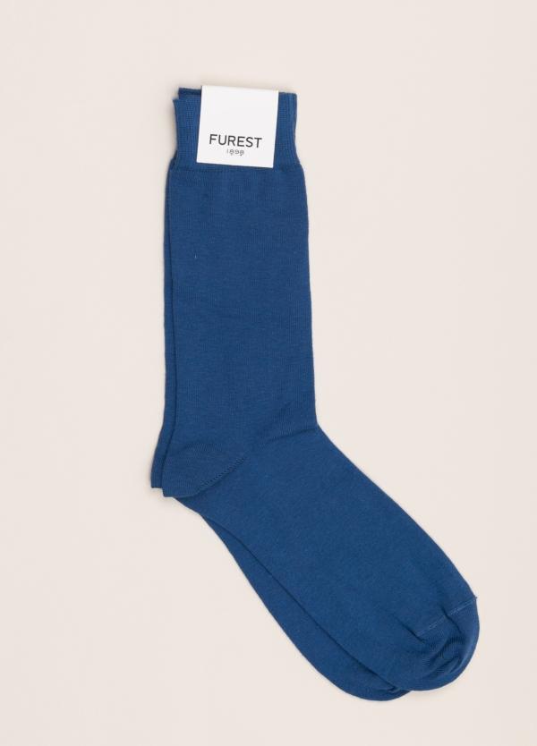 Calcetín FUREST COLECCIÓN corto liso azul
