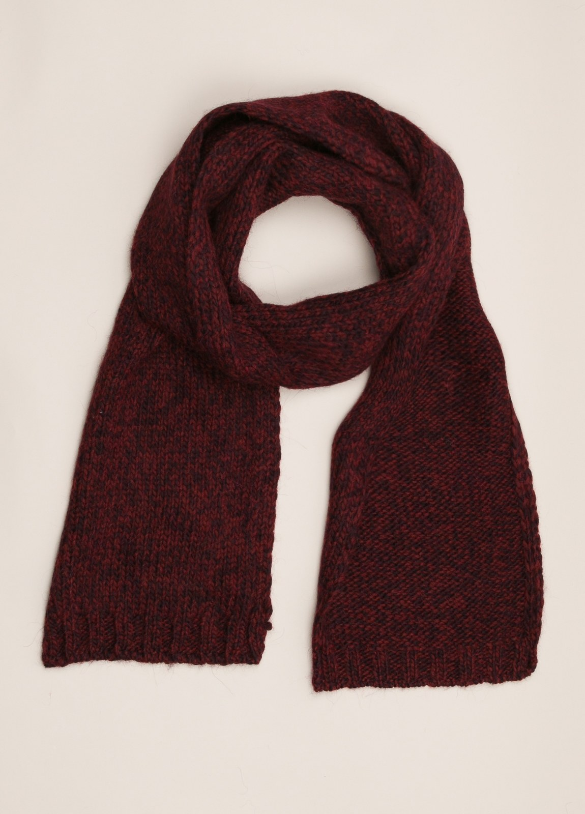 Bufanda WOOL & CO burdeos