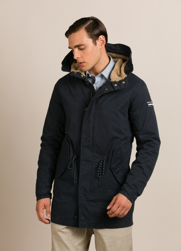 Parka SCOTCH & SODA azul marino.