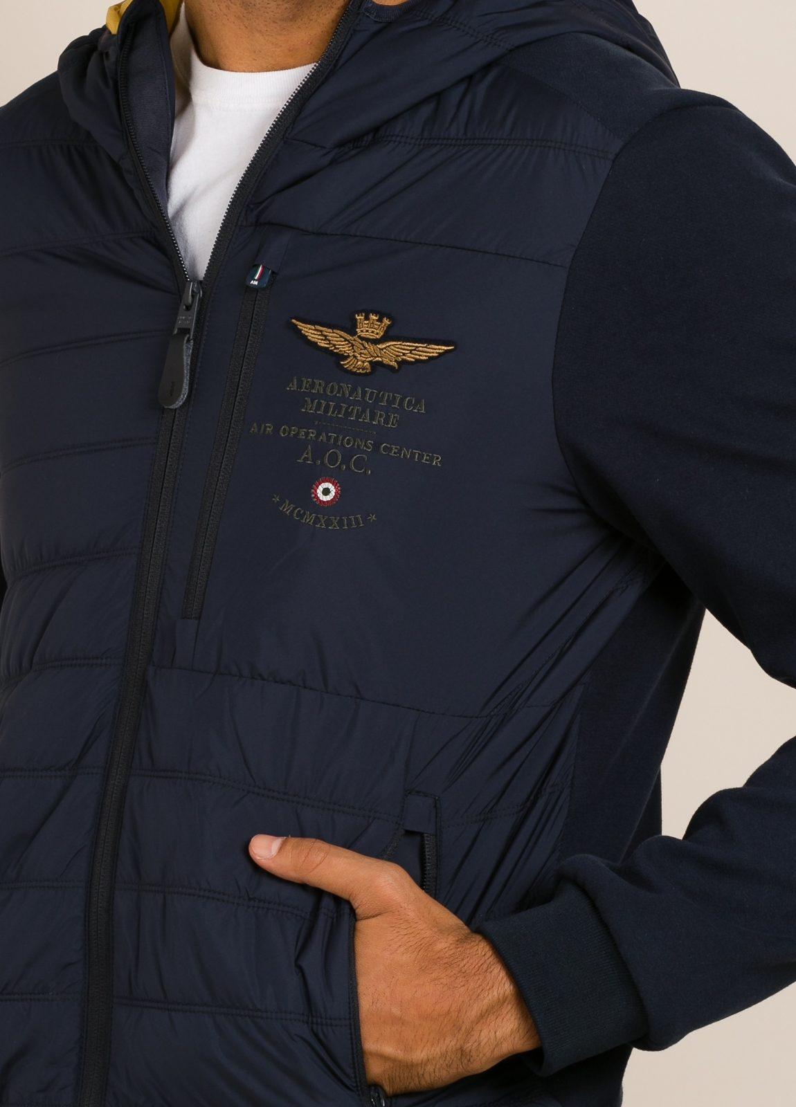 Cazadora con capucha AERONAUTICA MILITARE azul marino - Ítem2
