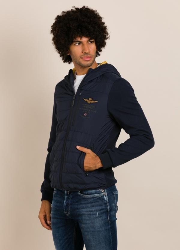 Cazadora con capucha AERONAUTICA MILITARE azul marino