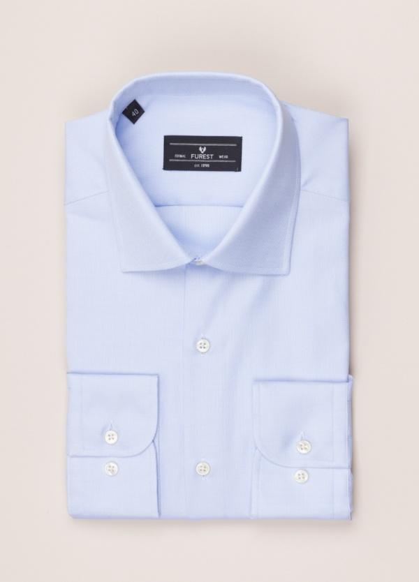 Camisa vestir FUREST COLECCIÓN SLIM FIT cuello italiano celeste