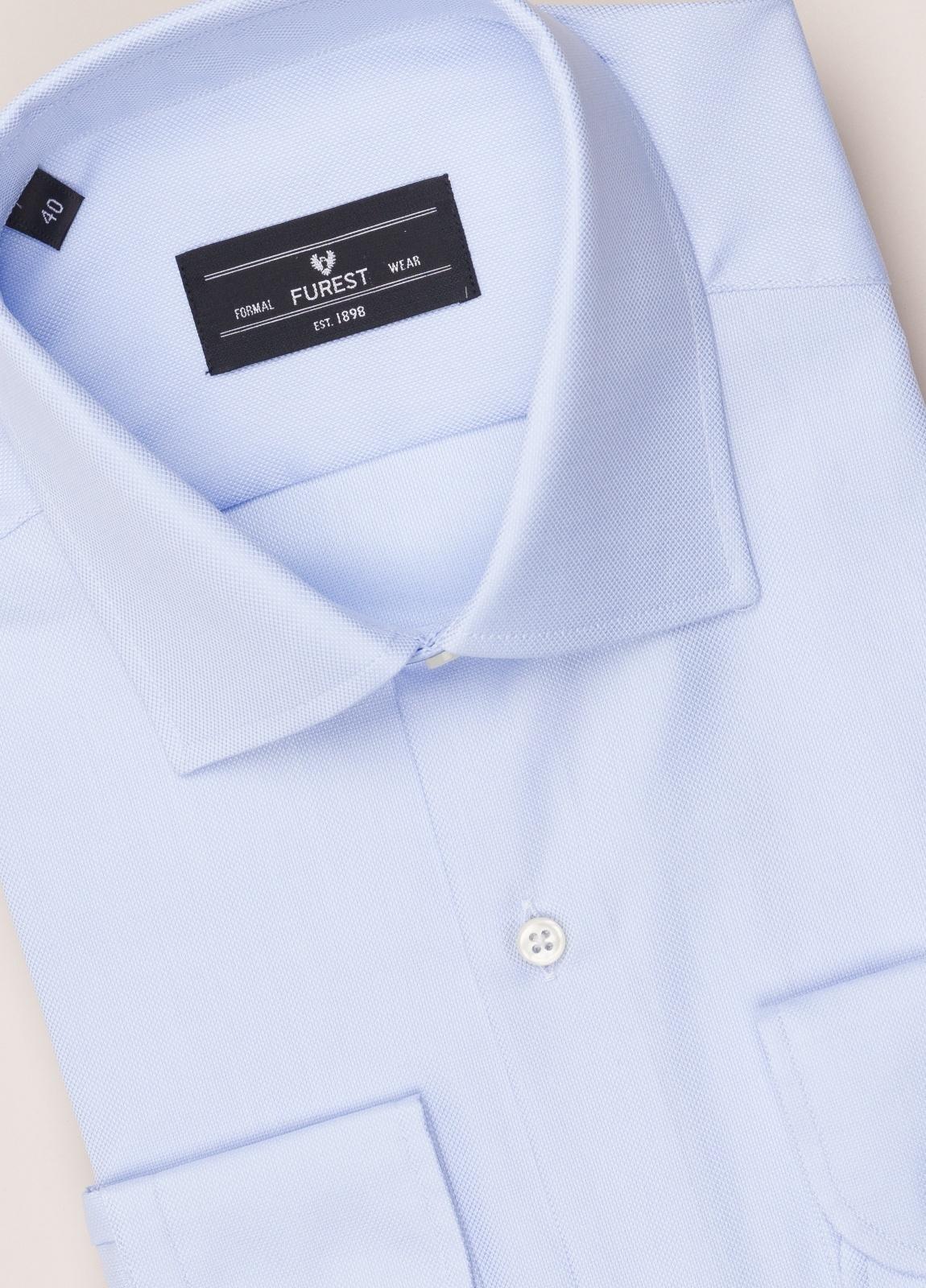 Camisa vestir FUREST COLECCIÓN SLIM FIT cuello italiano celeste - Ítem1