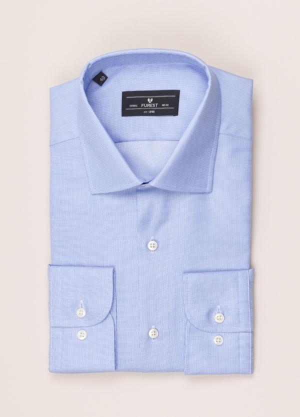 Camisa vestir FUREST COLECCIÓN SLIM FIT cuello italiano azul