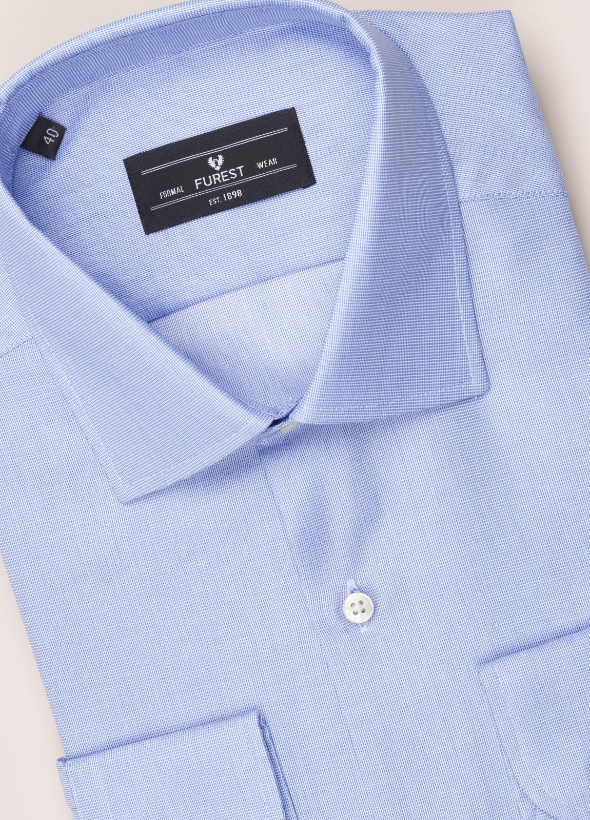 Camisa vestir FUREST COLECCIÓN SLIM FIT cuello italiano azul - Ítem1