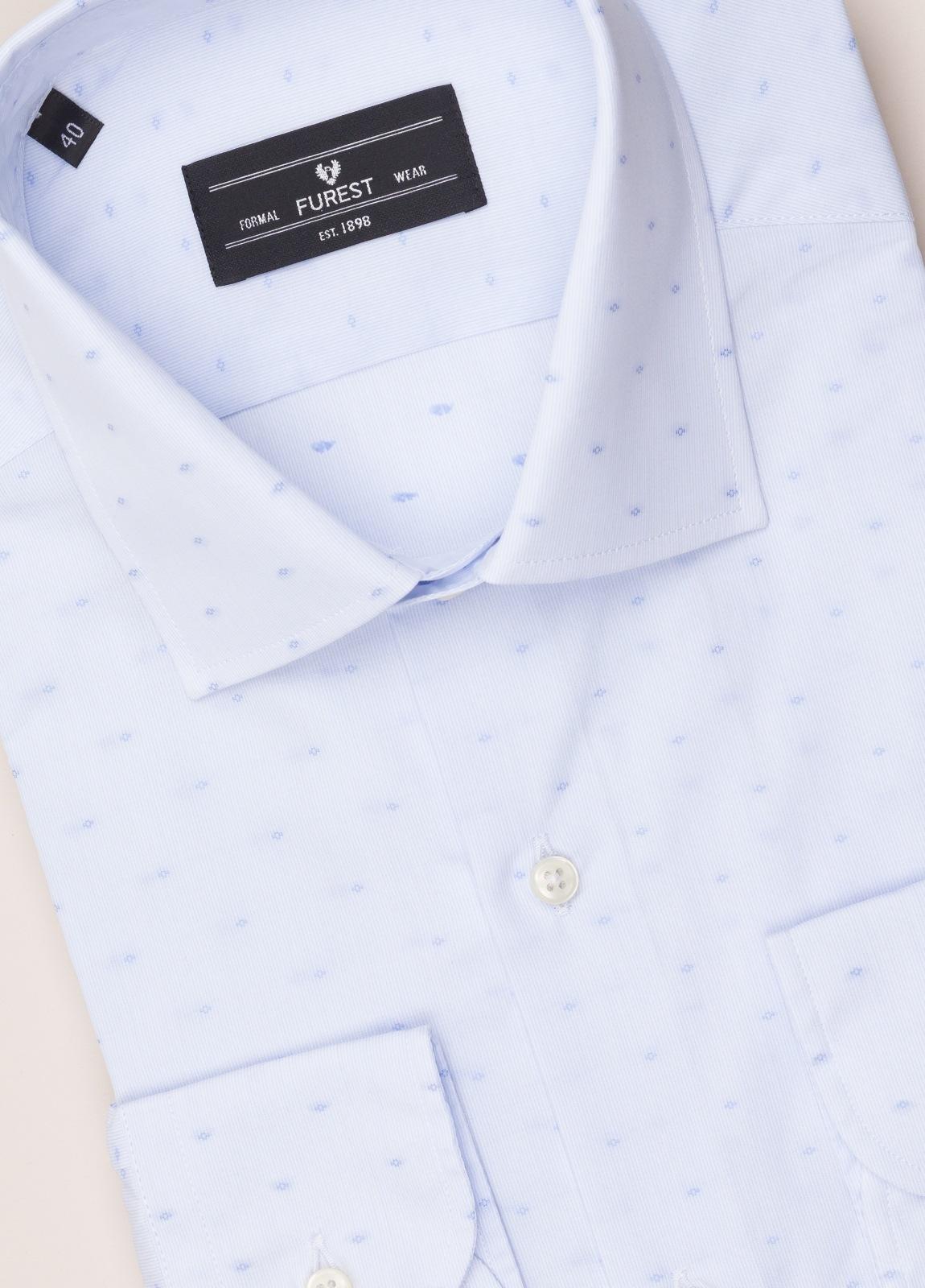 Camisa vestir SLIM FIT cuello italiano Fil Coupé dibujo geométrico - Ítem1