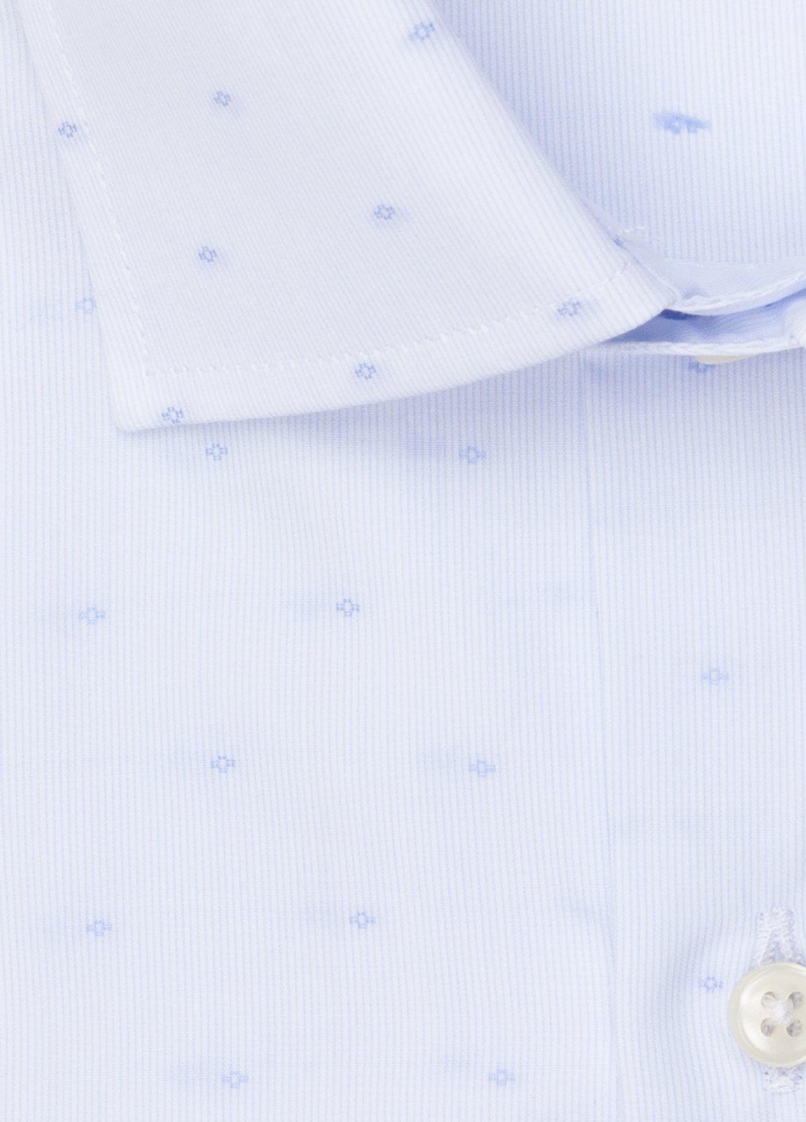 Camisa vestir SLIM FIT cuello italiano Fil Coupé dibujo geométrico - Ítem2