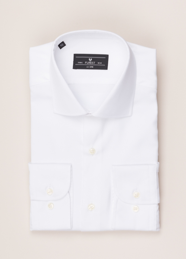 Camisa vestir FUREST COLECCIÓN REGULAR FIT cuello italiano blanco