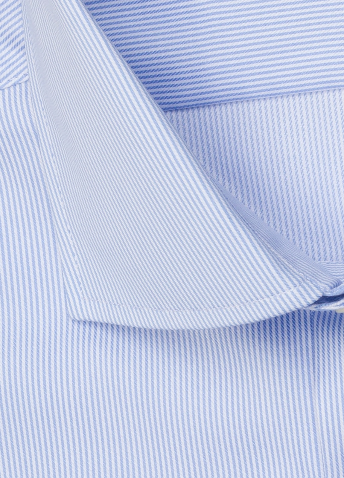 Camisa vestir FUREST COLECCIÓN regular fit cuello italiano rayas celeste - Ítem2