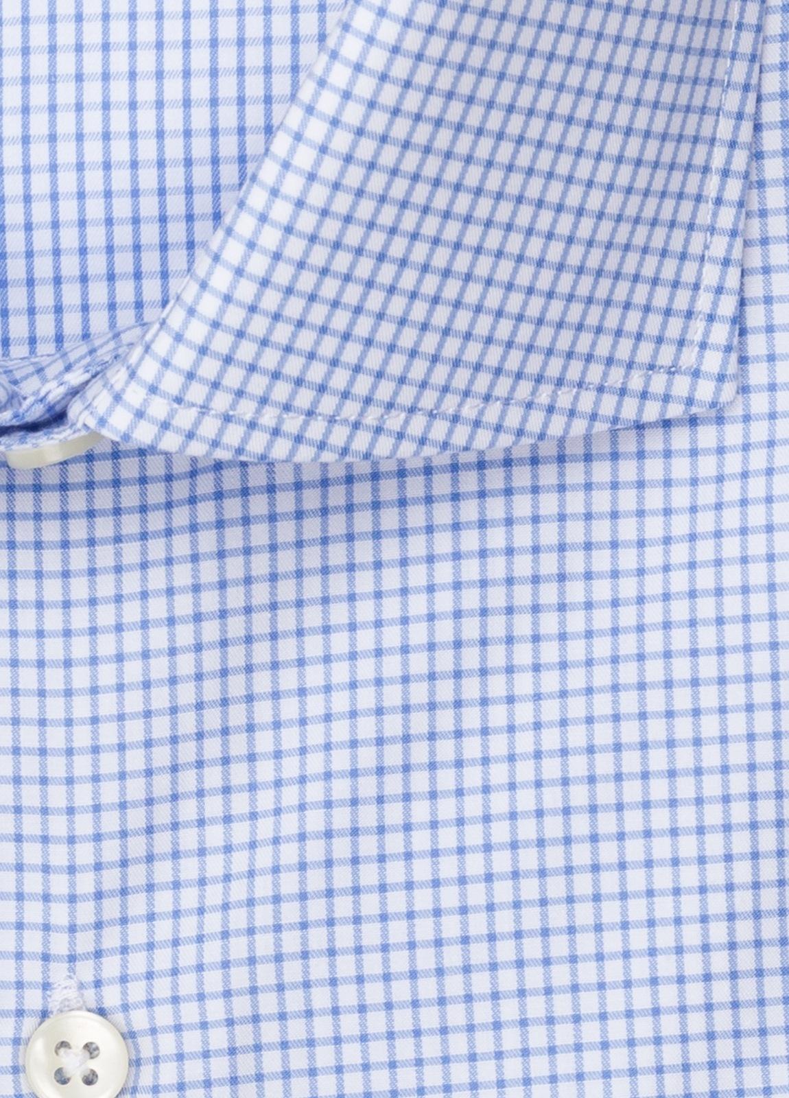 Camisa vestir FUREST COLECCIÓN regular fit cuello italiano cuadro libreta azul - Ítem2