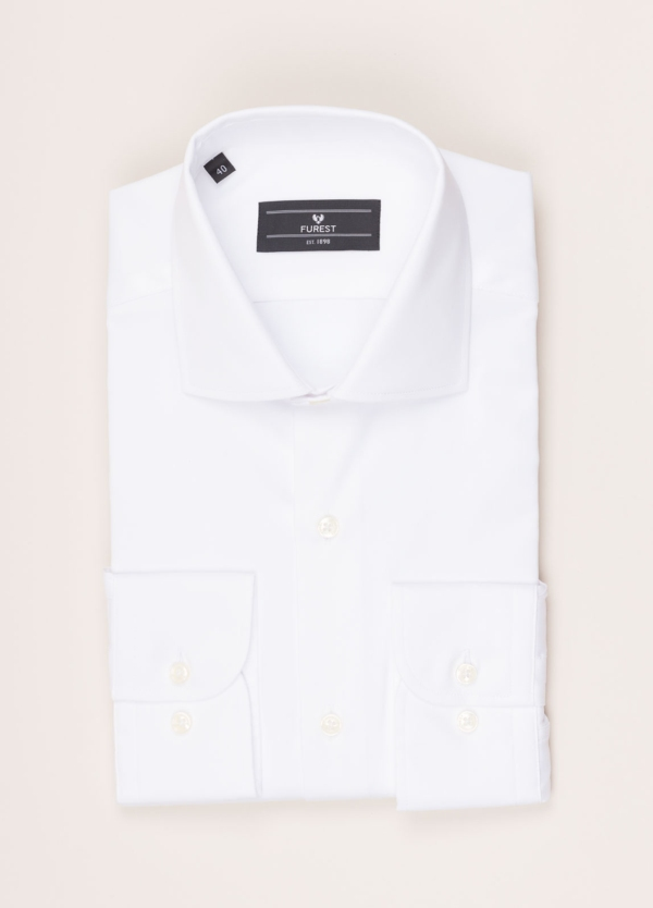 Camisa vestir FUREST COLECCIÓN REGULAR FIT pin point blanco