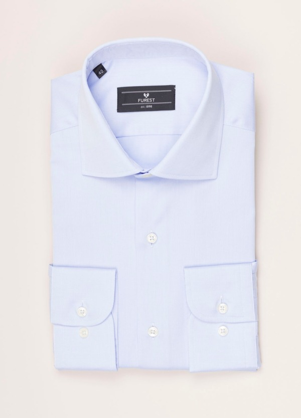 Camisa vestir FUREST COLECCIÓN REGULAR FIT twill celeste