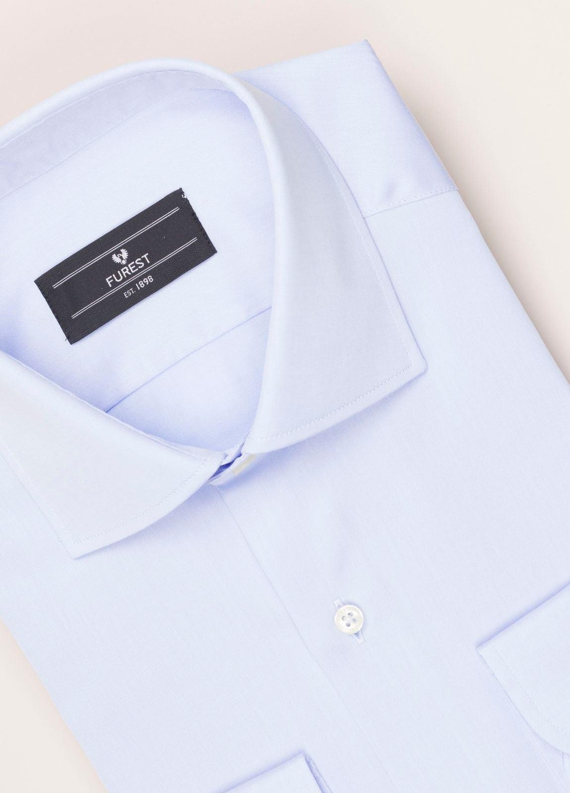 Camisa vestir FUREST COLECCIÓN REGULAR FIT twill celeste - Ítem1