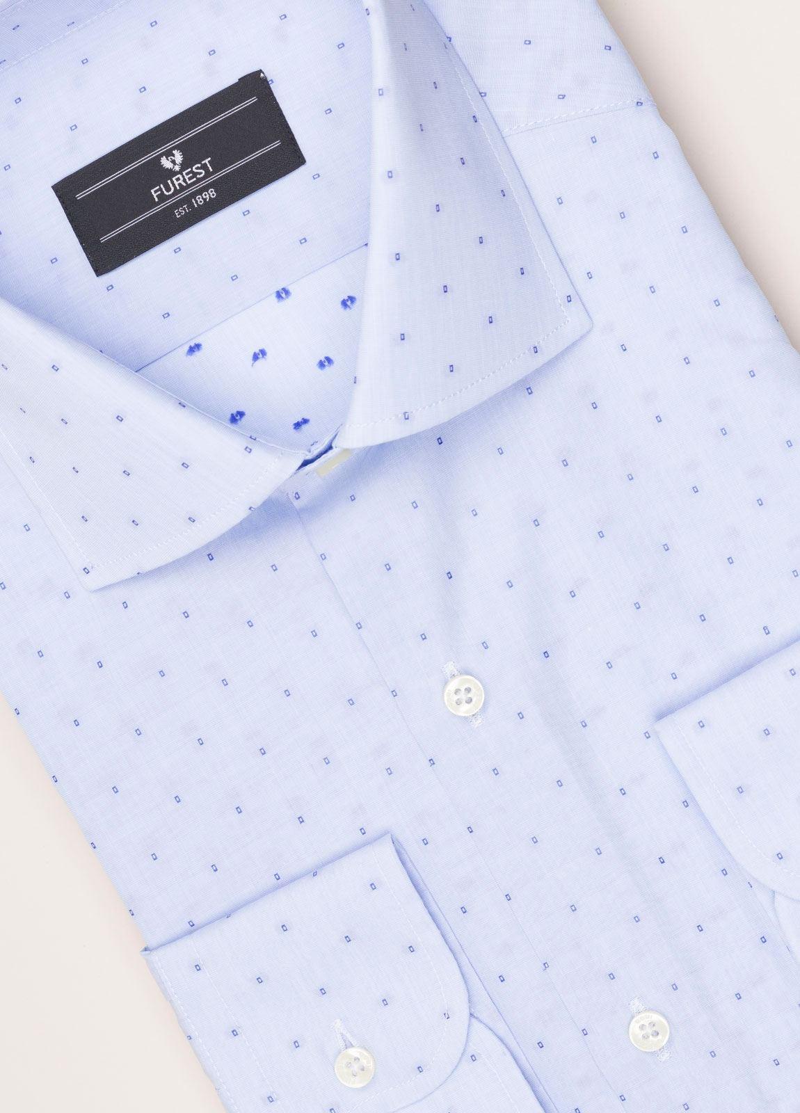 Camisa vestir FUREST COLECCIÓN REGULAR FIT fil coupé celeste - Ítem1