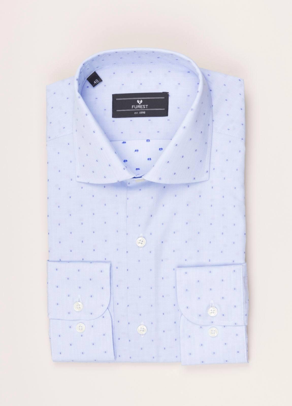 Camisa vestir FUREST COLECCIÓN REGULAR FIT fil coupé celeste