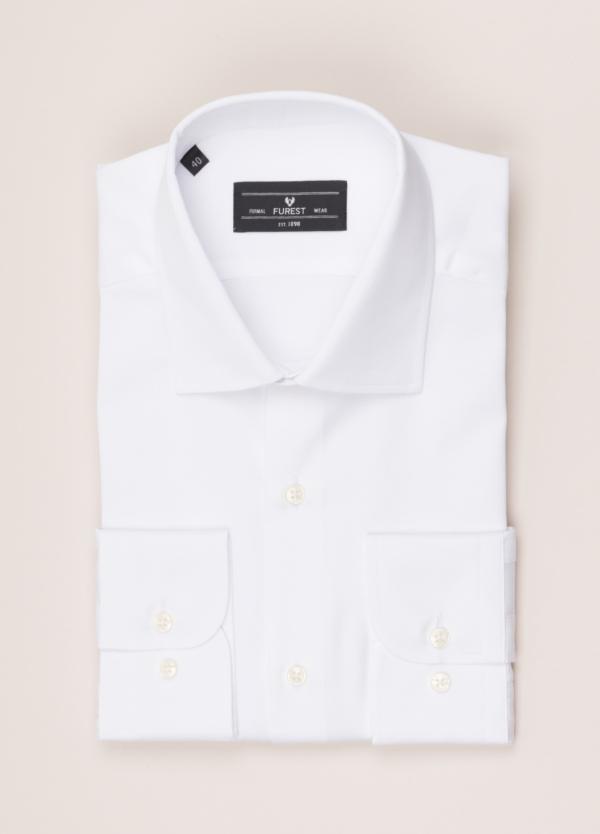 Camisa vestir FUREST COLECCIÓN SLIM FIT cuello italiano piqué blanco