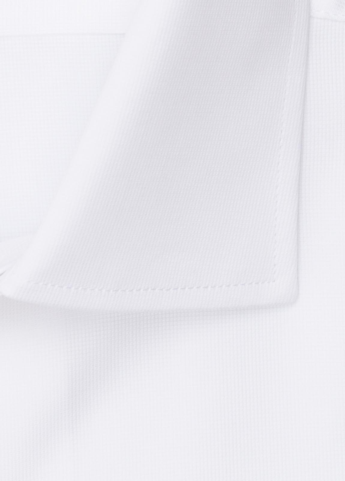 Camisa vestir FUREST COLECCIÓN SLIM FIT cuello italiano piqué blanco - Ítem2