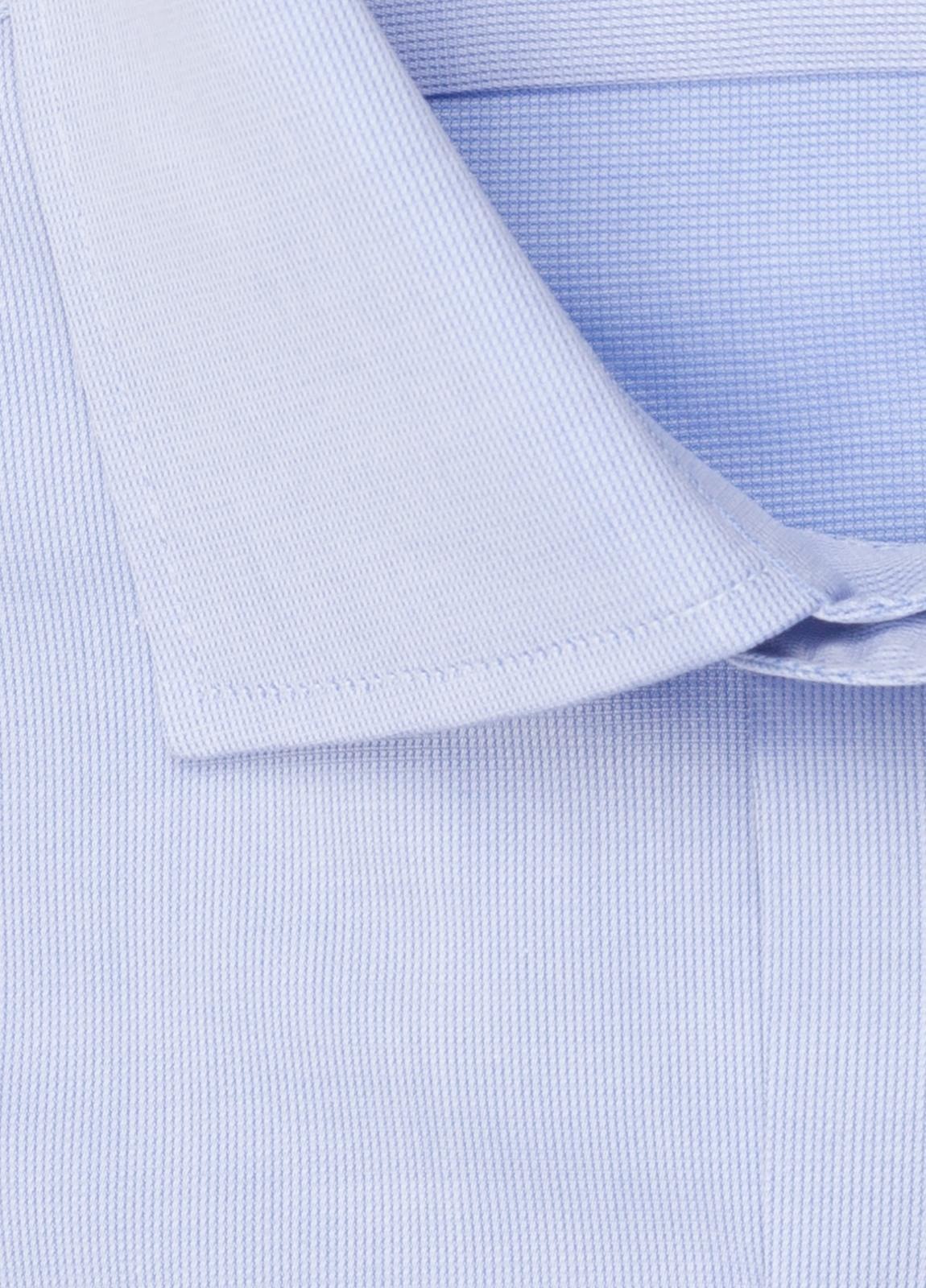 Camisa vestir FUREST COLECCIÓN SLIM FIT cuello italiano piqué celeste - Ítem2