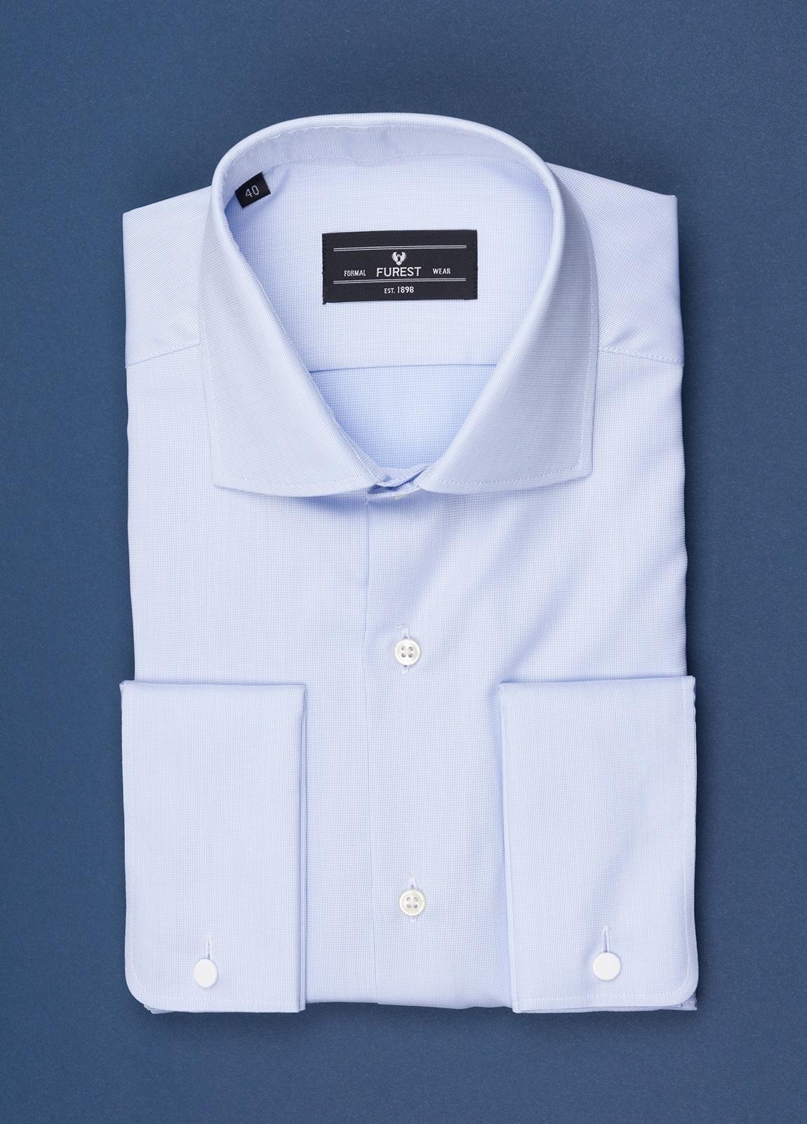 Camisa vestir FUREST COLECCIÓN Regular Fit Puño Doble celeste