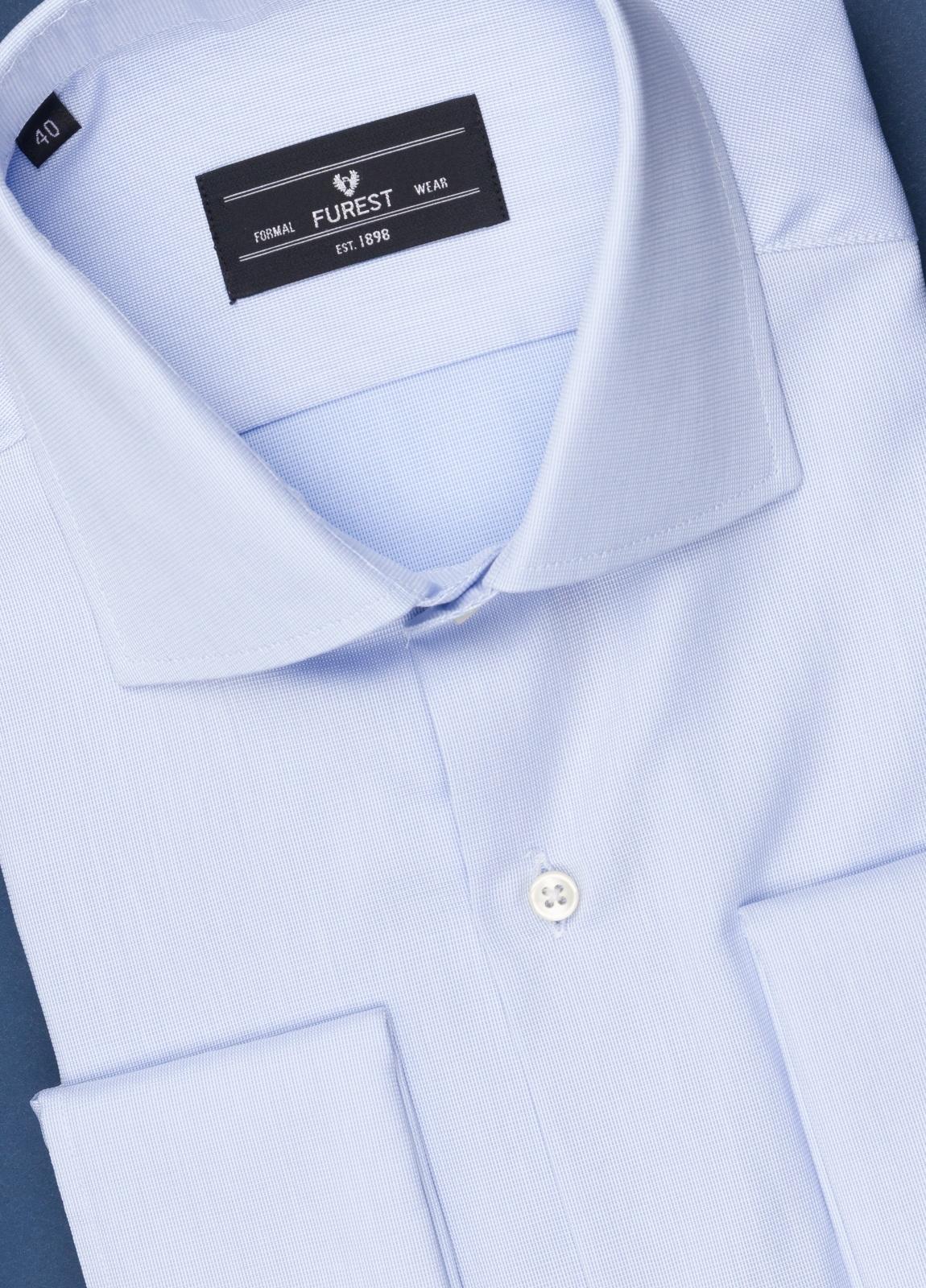 Camisa vestir FUREST COLECCIÓN Regular Fit Puño Doble celeste - Ítem1