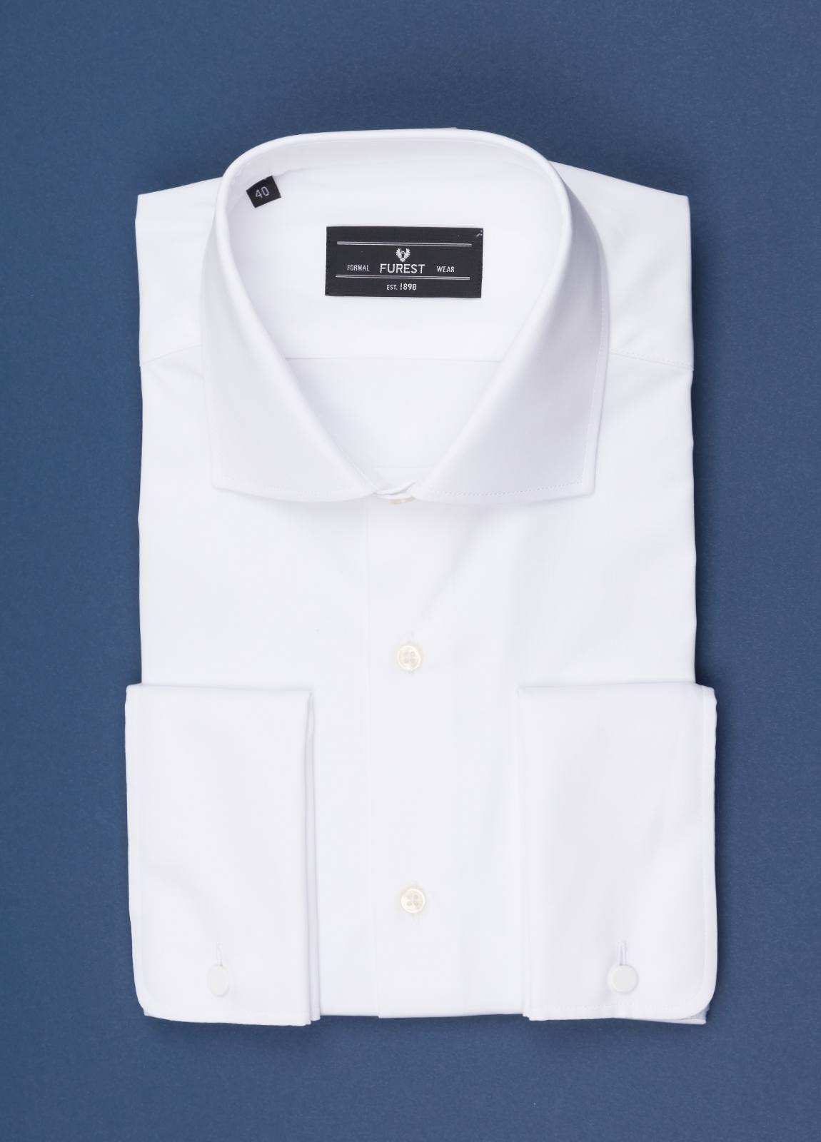 Camisa vestir FUREST COLECCIÓN Slim Fit Puño Doble Algodón Popelin