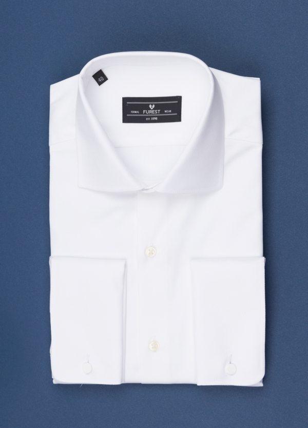 Camisa vestir FUREST COLECCIÓN Slim Fit Puño Doble otoman blanco