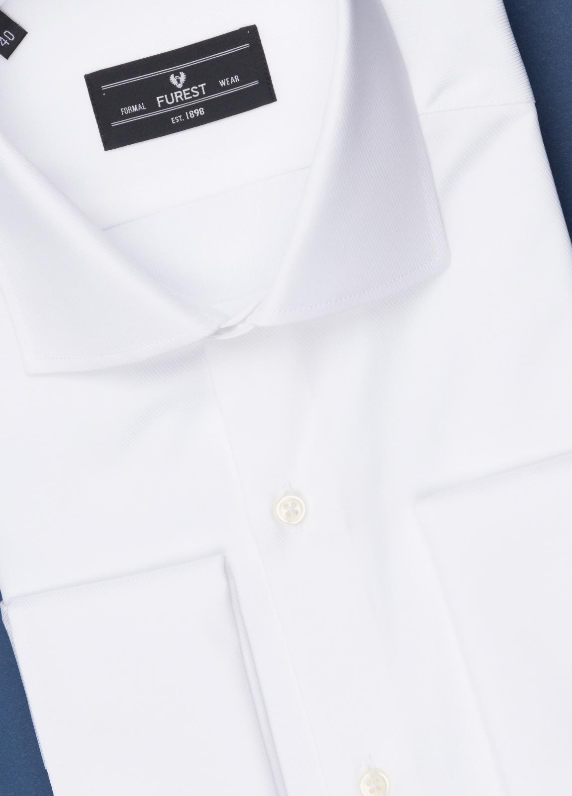 Camisa vestir FUREST COLECCIÓN Slim Fit Puño Doble otoman blanco - Ítem1