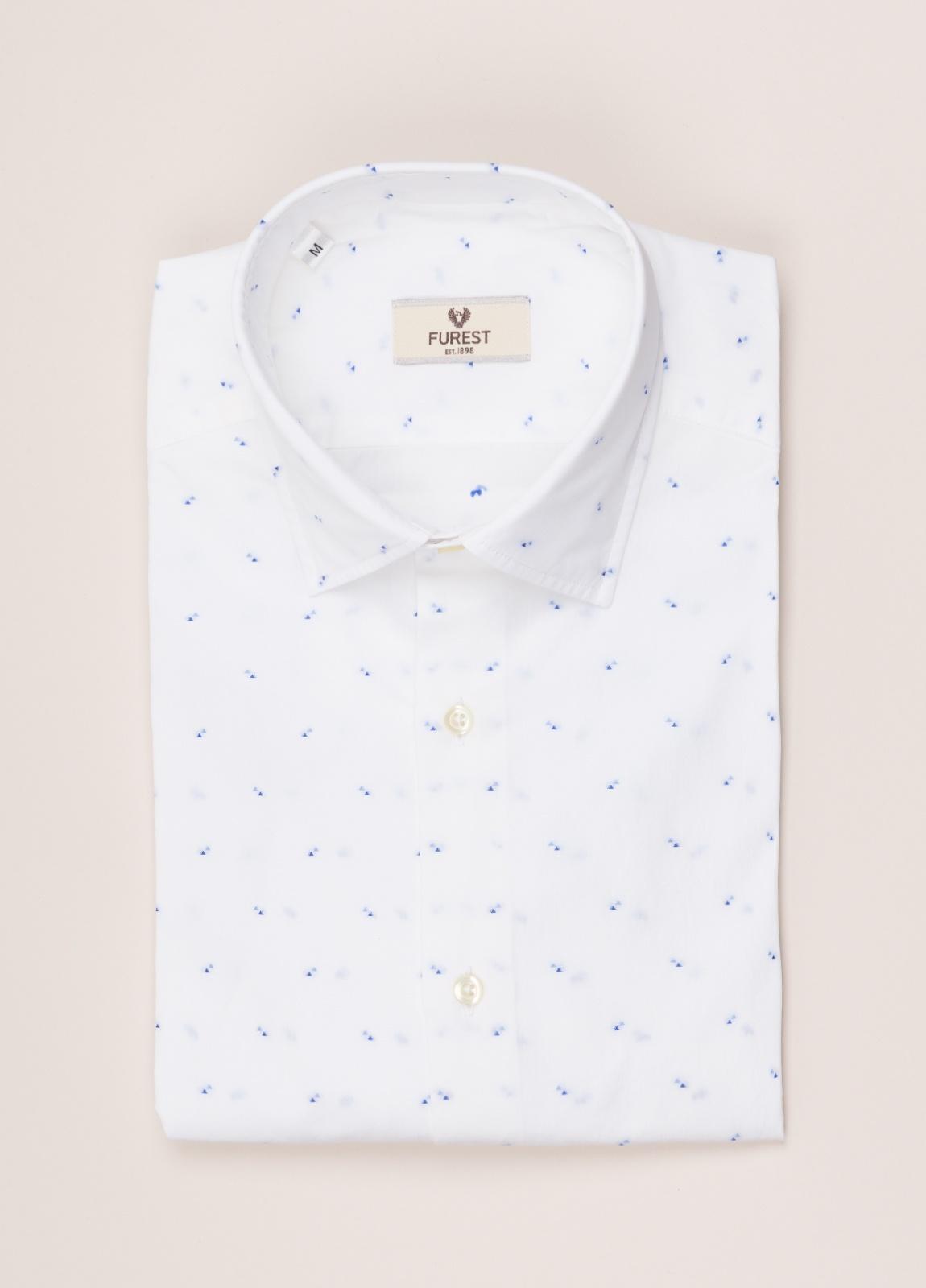 Camisa sport FUREST COLECCIÓN SLIM FIT dibujo geométrico