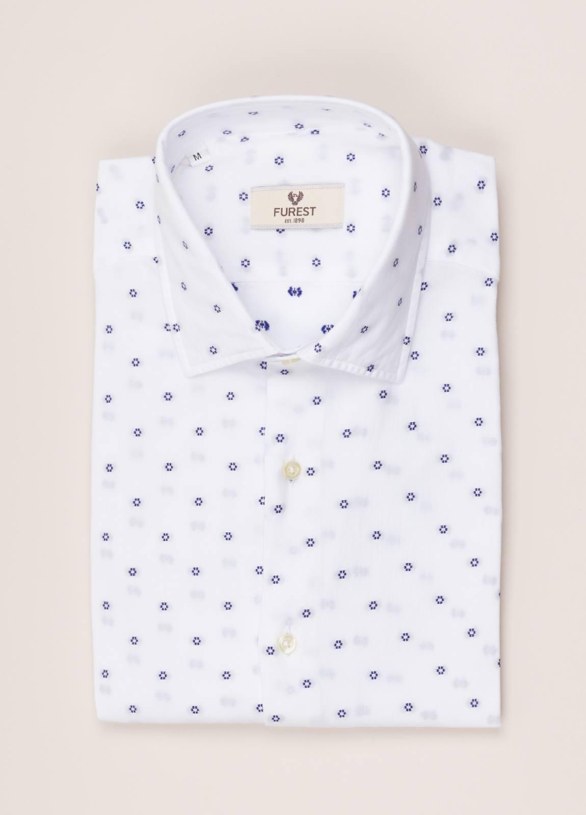 Camisa sport FUREST COLECCIÓN Slim Fit Fil Coupé flor