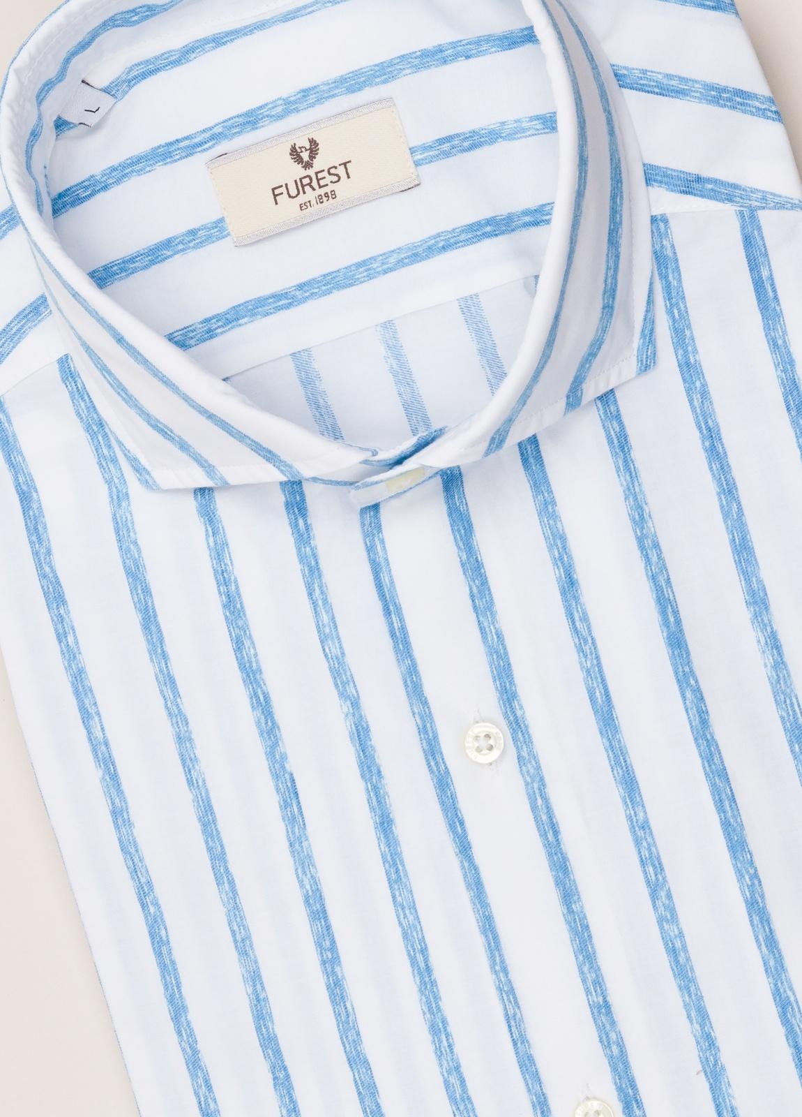 Camisa sport FUREST COLECCIÓN SLIM FIT rayas azul - Ítem2