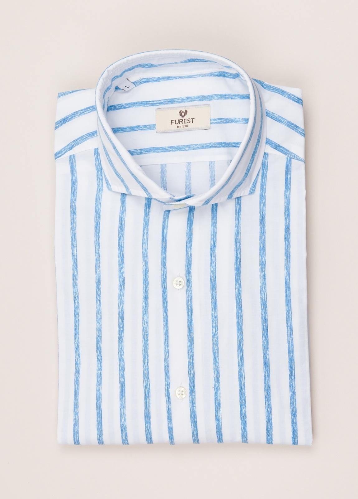 Camisa sport FUREST COLECCIÓN SLIM FIT rayas azul - Ítem3