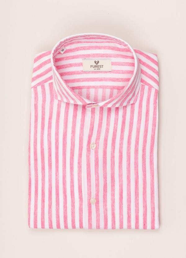 Camisa sport FUREST COLECCIÓN slim fit rayas rosa