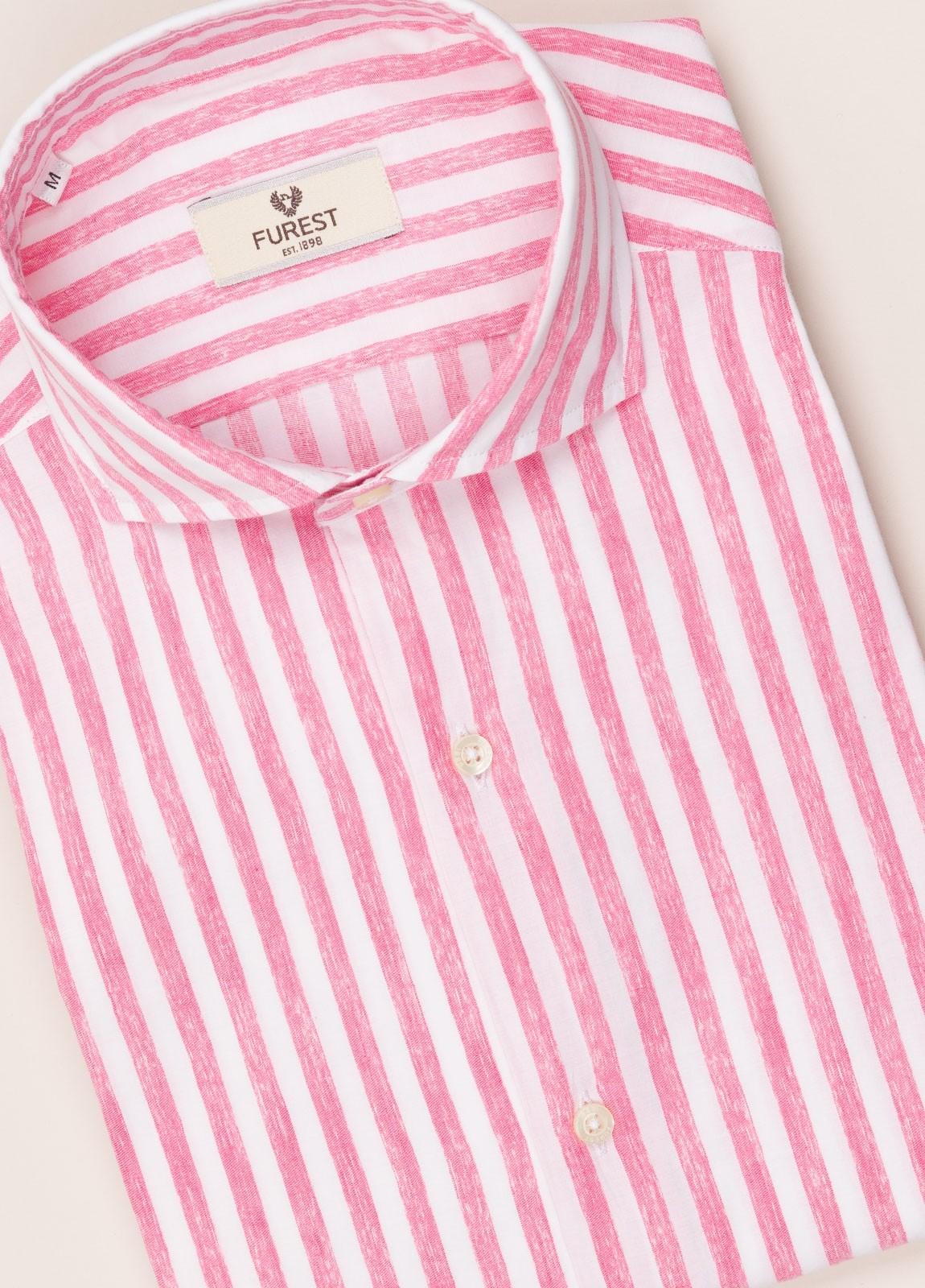 Camisa sport FUREST COLECCIÓN slim fit rayas rosa - Ítem2