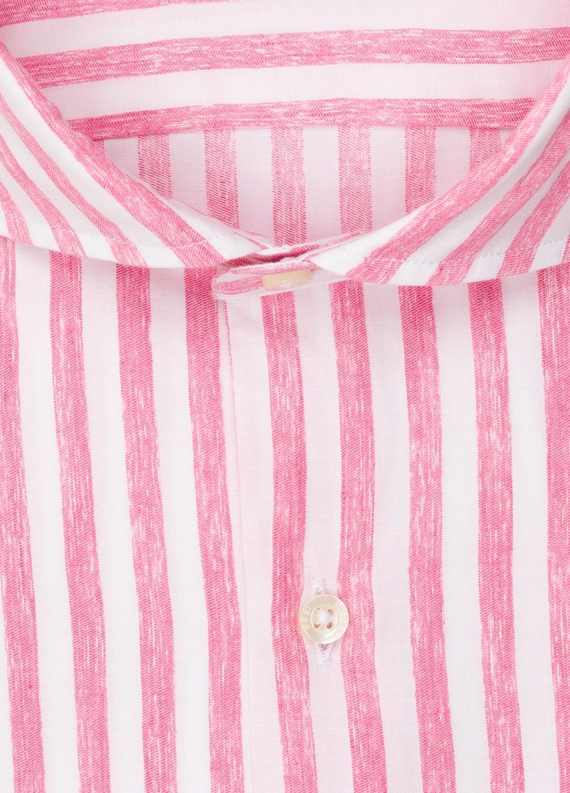 Camisa sport FUREST COLECCIÓN slim fit rayas rosa - Ítem1