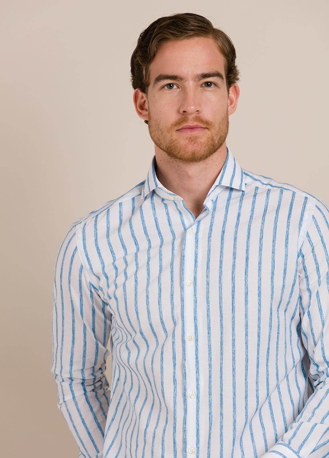 Camisa sport FUREST COLECCIÓN SLIM FIT rayas azul - Ítem5