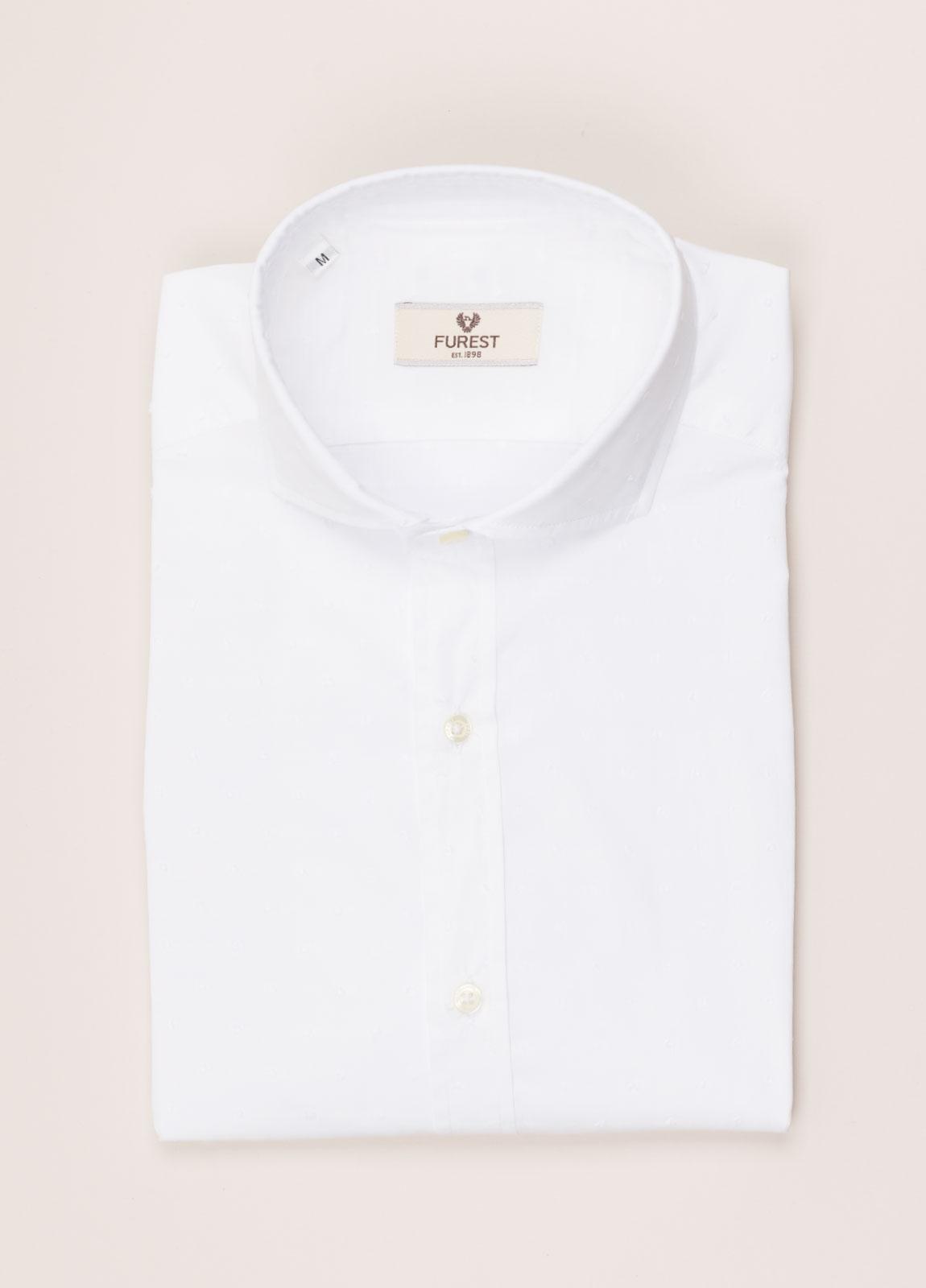Camisa sport FUREST COLECCIÓN SLIM FIT fil coupé blanco