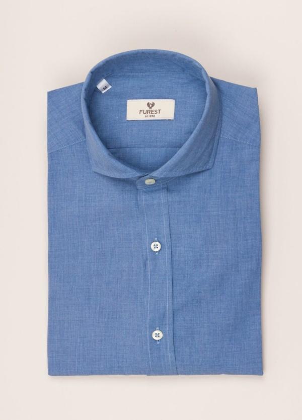 Camisa sport FUREST COLECCIÓN SLIM FIT azul denim