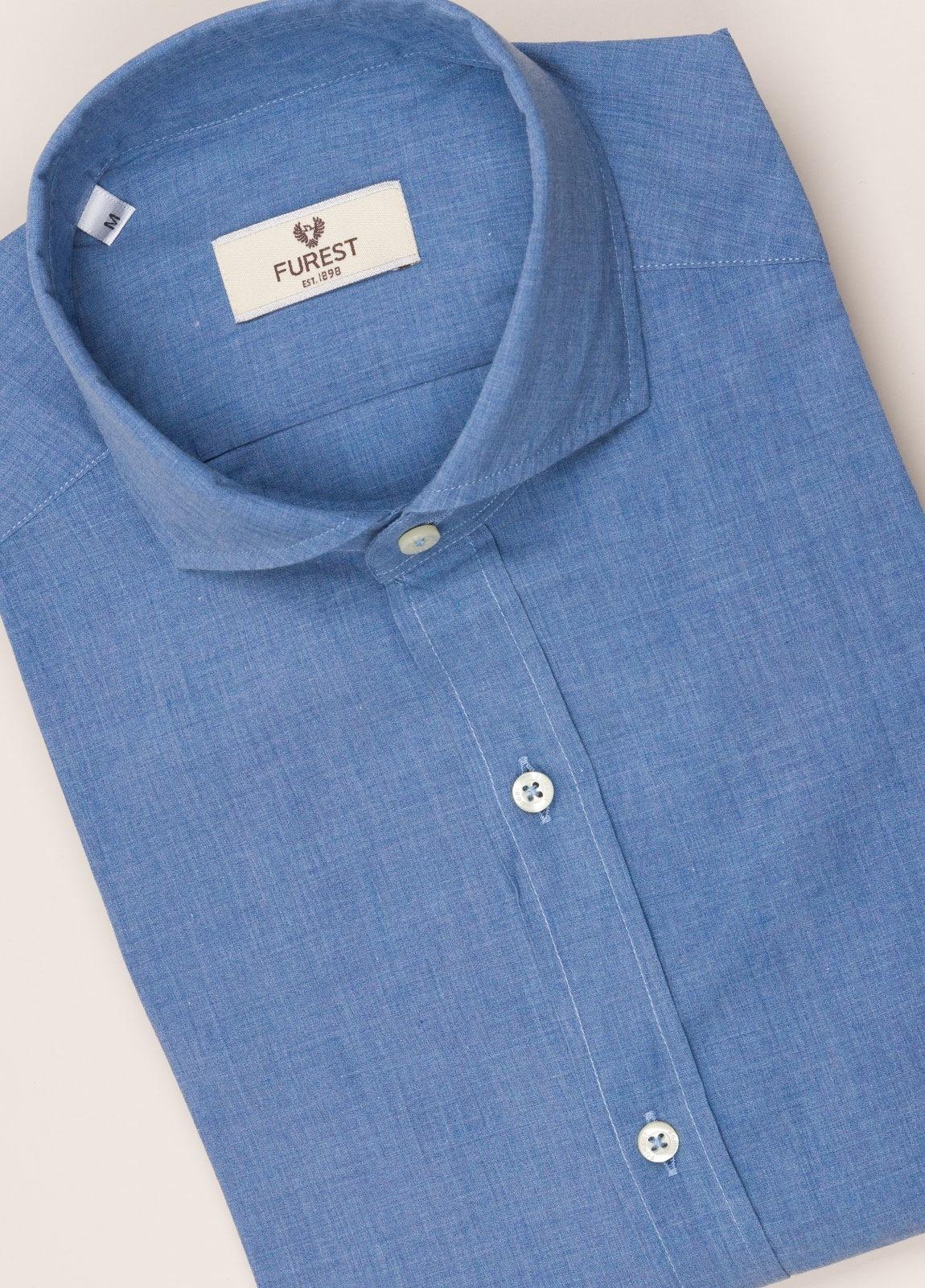 Camisa sport FUREST COLECCIÓN SLIM FIT azul denim - Ítem1