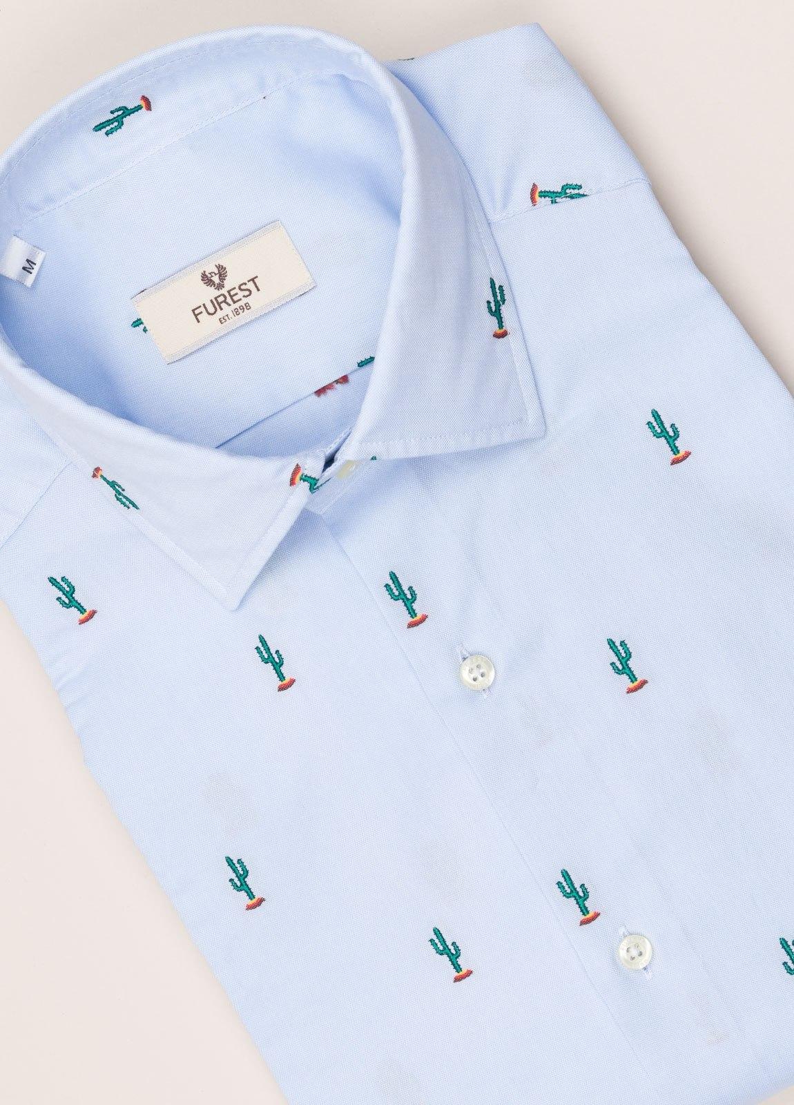 Camisa sport FUREST COLECCIÓN SLIM FIT fil coupé cactus - Ítem1