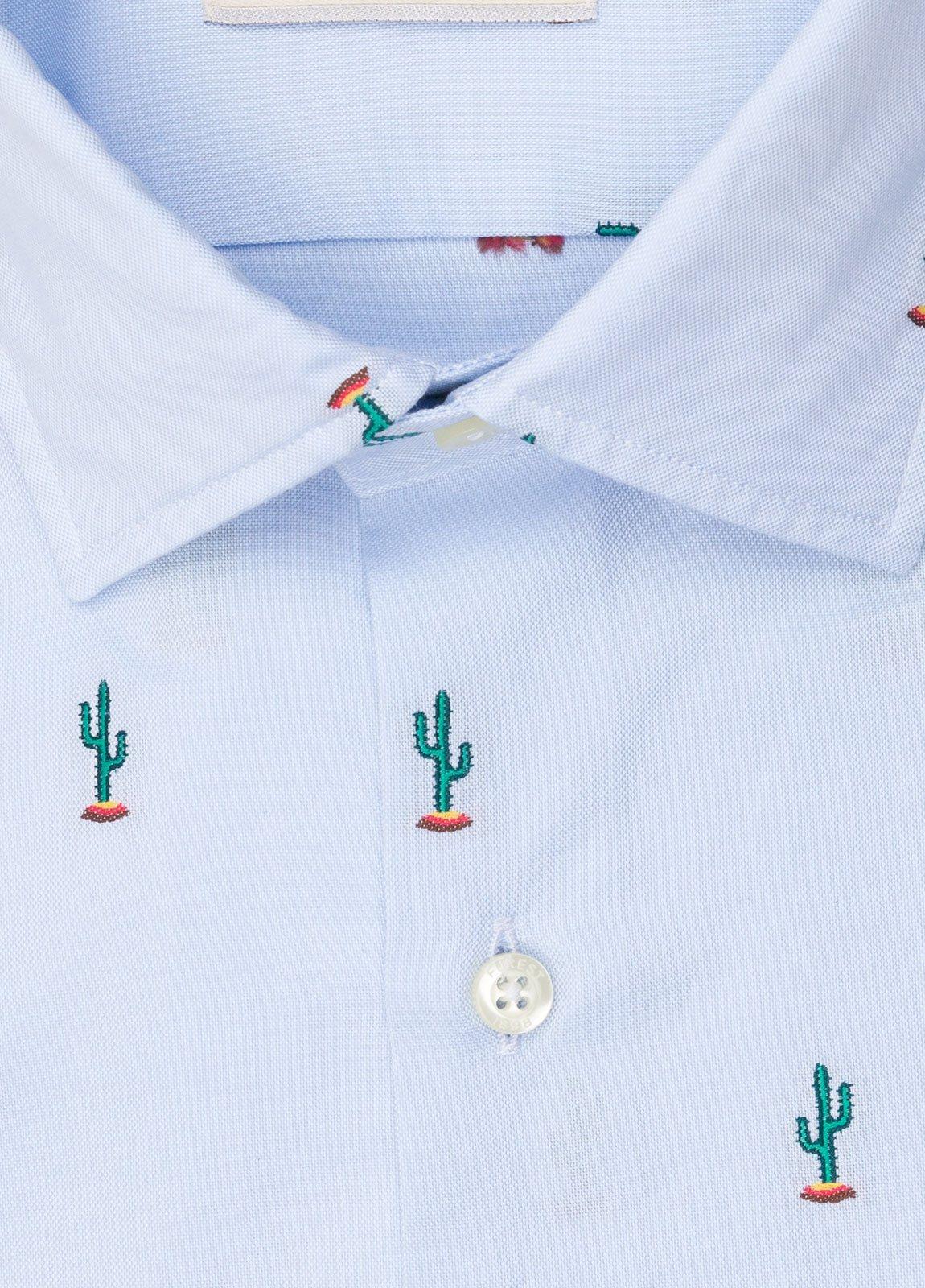 Camisa sport FUREST COLECCIÓN SLIM FIT fil coupé cactus - Ítem2