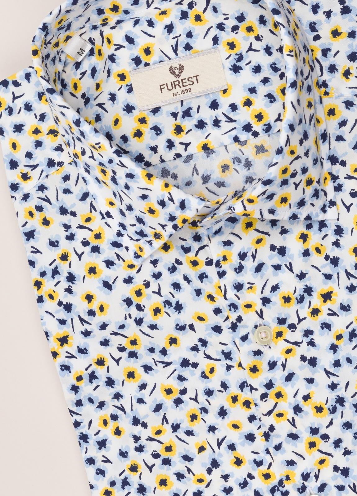 Camisa sport FUREST COLECCIÓN Slim Fit flores amarillo - Ítem2