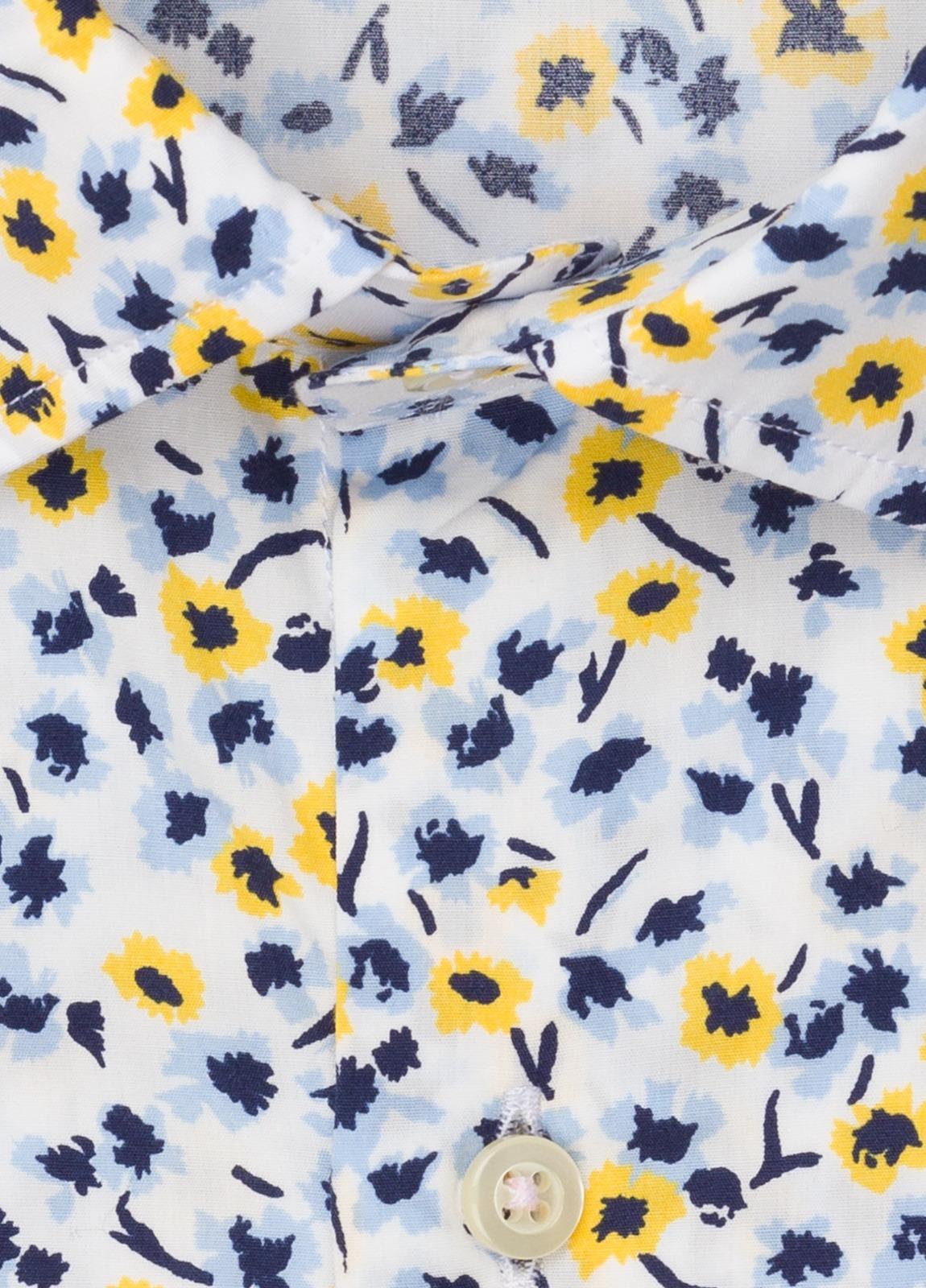 Camisa sport FUREST COLECCIÓN Slim Fit flores amarillo - Ítem1